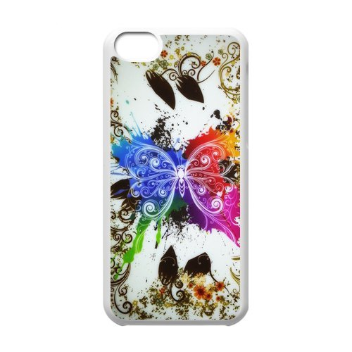 Generic Cell Phone Cases Cover For Apple Iphone 5C Case Fashionable Art Designed With Beautiful Butterfly - K Personalized Shell front-913885