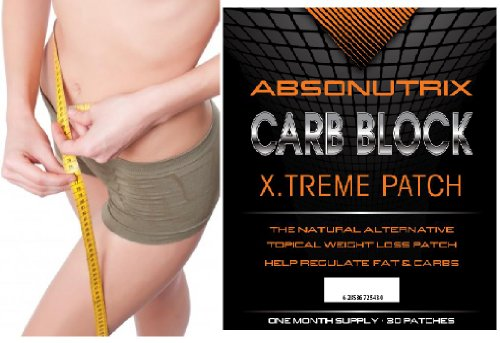 Absonutrix Carb Block X.Treme Patch - 30 Patches - White Kidney Bean Extract! Reduce Your Weight And Compact Your Body - 30 Day Money Back Guarantee! Nothing To Lose!