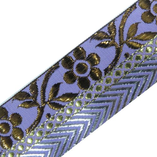 3 Yard Light Purple Metallic Bronze Jacquard Ribbon Sewing Trim
