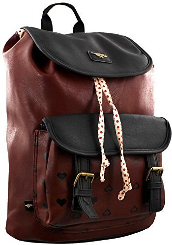 rocket-dog-hearts-leatherette-casual-rucksack-bluebell-backpack-for-woman-in-burgundy