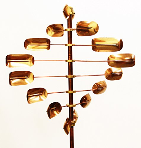 Stanwood-Wind-Sculpture-CWS-06-Kinetic-Lucky-8-Twirler-Copper-Wind-Spinner