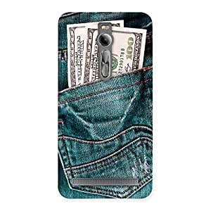 Luxirious Full Dollar Jeans Back Case Cover for Asus Zenfone 2