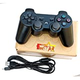 New remote controller game pad for use with Playstation III Ps3 (Black)
