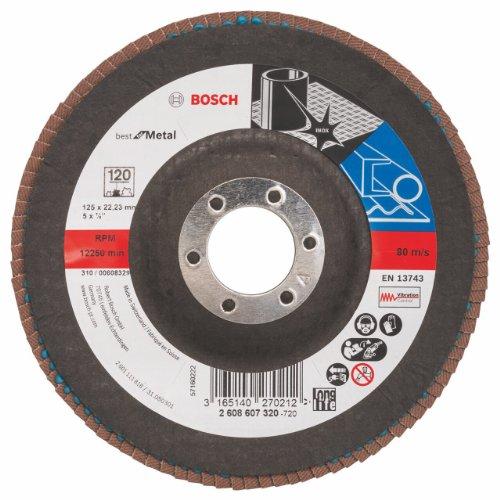 Bosch 2608607320 - Disco a lamelle a superficie bombata, diametro 125 mm, grana 120