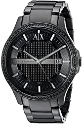 Armani Exchange Men's AX2173 Hampton Analog Display Analog Quartz Black Watch