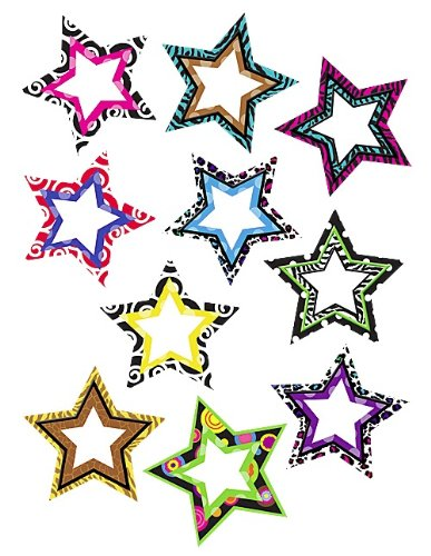 Teacher Created Resources Fancy Stars Accents (5215)