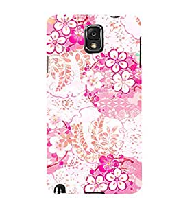Floral Painting Cute Fashion 3D Hard Polycarbonate Designer Back Case Cover for Samsung Galaxy Note 3 :: Samsung Galaxy Note III :: Samsung Galaxy Note 3 N9002 :: Samsung Galaxy Note N9000 N9005