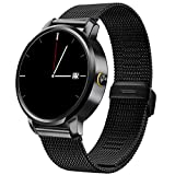 Lincass SmartWatch Sport Bluetooth Smart Watch Metal Frame Waterproof SMS Notification Phone Calls Music Camera Remote Pedometerfor Wristwatch for iPhone Android ios Smartwatch (Black)
