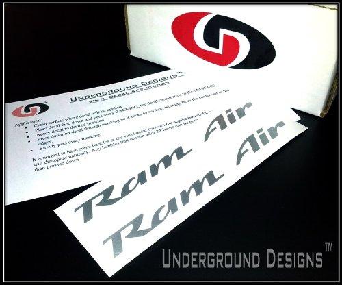 RAM AIR DECALS Firebird Trans Am Formula GTO Hood Stickers 1993-2002 METALLIC SILVER (Ram Air Hood Firebird compare prices)