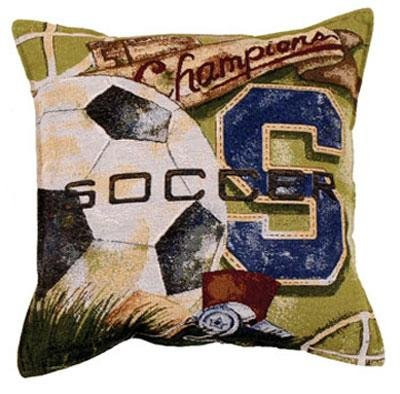 Soccer Vintage Tapestry Toss Pillow