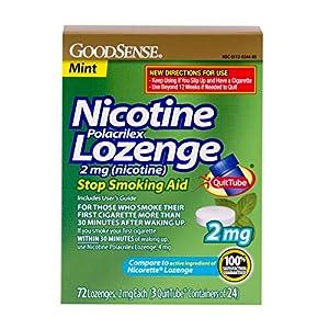 GoodSense Nicotine Lozenge, 2mg (nicotine), Mint, 72-count, 3x24p