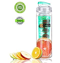 Delicol Infuser Water Bottle 27 Oz Leak Proof Bpa-free Tritan Fruit Sports Bottle(style 1)-make Your Own Fresh and Nutritive Fruit Water