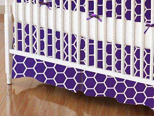 Purple Crib Dust Ruffle