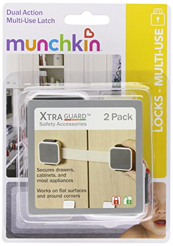 Munchkin Xtraguard 2 Count Dual Action Multi Use Latches (Pack Of 2)