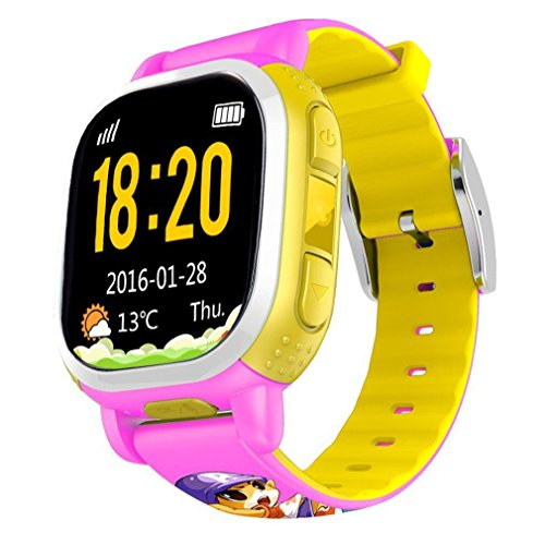 Tencent-QQ-Watch-Kids-Smart-Watch-phone-GPS-Tracker-Wifi-Locating-GSM-Camera-Remote-Locating-Security-SOS-Alarm-Antilost-Pink