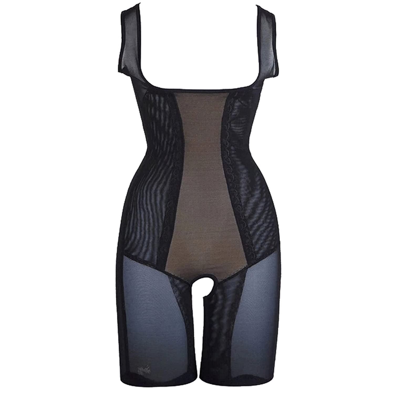 Tangda Damen Shaping Bodysuit Shapewear Mieder Slip Bauchweg Taillenformer Bodyshaper Schwarz (Größe Wählbar)