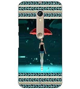 Printdhaba Umbrella Girl D-3165 Back Case Cover For Motorola Moto X Pure Edition