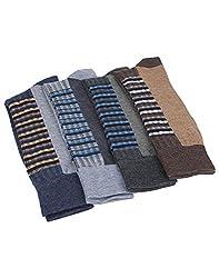 Mikado Multi Colour Cotton Full Lenght Socks for Men - 10 Pair Pack