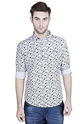 Showoff Men's Full Sleeves Slim fit Black Printed Casual Shirt