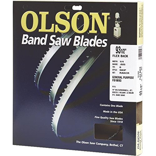 Olson Saw FB23193DB 1/2 by 0.025 by 93-1/2-Inch HEFB Band 3 TPI Hook Saw Blade image