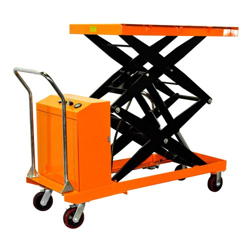 Bolton Tools New Hydraulic Key Operated Hand Electric Double Scissor Lift Table Cart Truck - 2200 LB of Capacity - 67.0