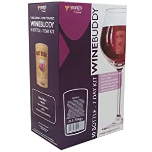Home Brew & Wine Making - Winebuddy 30 Bottle Red Wine Refill - Merlot Ingredient Kit