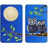 Wenko 2521455500 Universal Hob Cover Plate with Owls Design [Set of 2]