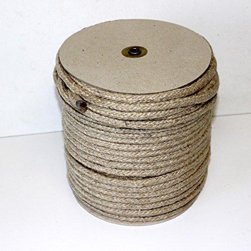 100m canapa Fune corda in 10mm-Treccia Beige Naturale, bobina corda canapa naturale. Lunghezza 100Metri, 300kg forza di rottura, flessibile, per 1.000utilizzi, in produzione tedesca