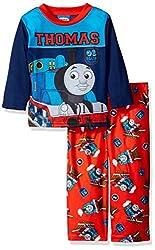 Thomas the Train Toddler Boys' Icon 2-Piece Pajama Set, Blue, 4T