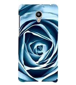 VINTAGE WHITE PAPER FOLDED ROSE DESIGN 3D Hard Polycarbonate Designer Back Case Cover for Meizu m3 note::Meizu Blue Charm Note3