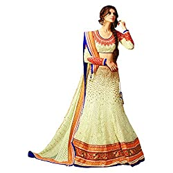 Aagaman Fashion Net Lehenga Cholis (TSSF6708_Cream)
