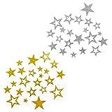Sternen Sticker in Gold oder Silber - Glitzernde Funkelnde Sterne hergestellt von Oblique-Unique