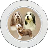 Tax Disc Holder ft The Bearded Collie design No 1