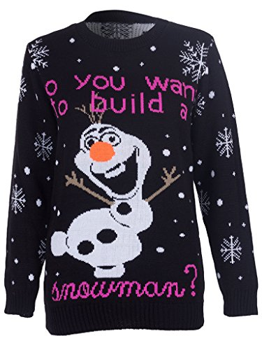STYLE-MIXX-Do-You-Want-To-Build-Snowman-Olaf-Frozen-Christmas-Jumper-Sweater-Top-Xmas-Gift
