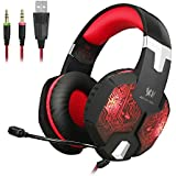 KOTION EACH G1000 Professional 3.5mm PC Gaming Headset Bass Stereo Headphones Earphones Headband With Mic Microphone... - B01ESZEREM