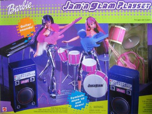 Barbie Jam 'N Glam Playset (2001) - Buy Barbie Jam 'N Glam Playset (2001) - Purchase Barbie Jam 'N Glam Playset (2001) (Barbie, Toys & Games,Categories,Dolls,Playsets,Fashion Doll Playsets)