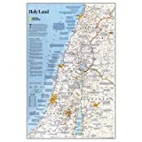 (20x31) National Geographic Holy Land Map Educational Poster