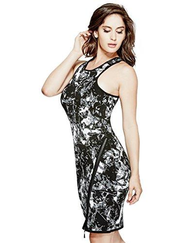 Guess Womens Sleeveless Jacquard Zip Dress