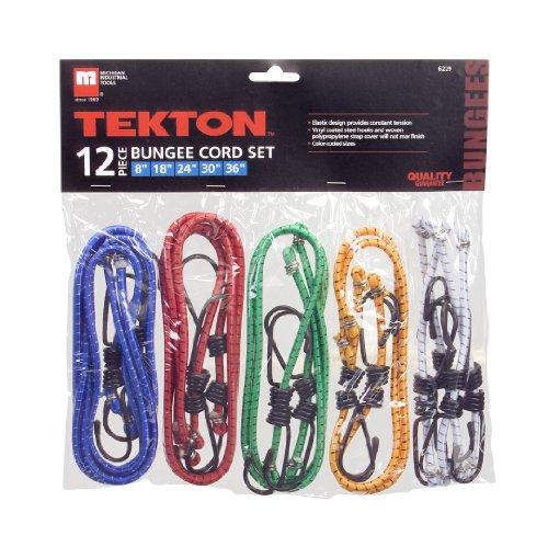 TEKTON 6229 Bungee Cord Set, 12-Piece