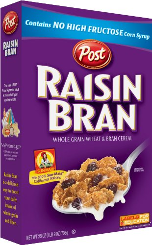 Post Raisin Bran Cereal, 47-Ounce Boxes (Pack of 2)