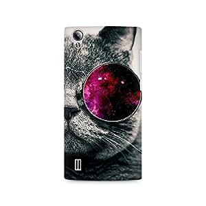 Ebby Classy Glassy Cat Premium Printed Case For Vivo Y15