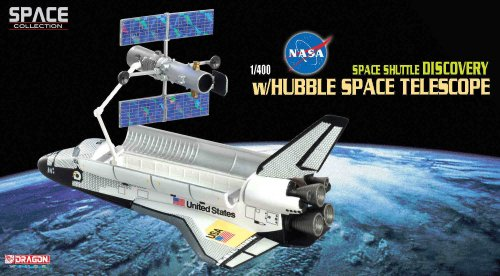 Dragon Models 1/400 NASA Space Shuttle Discovery With Hubble Space Telescope