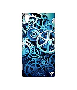 Vogueshell Clock Parts Pattern Printed Symmetry PRO Series Hard Back Case for Sony Xperia Z2