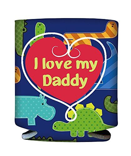 I Love My Daddy Dinosaur Baby Bottle Sleeve
