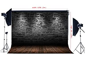 6.5x5ft(2x1.5m) Vintage Brick Wall Photography Backdrops Photo Studio Backgrounds Thin Vinly Backdrops For Photography NTZC-017
