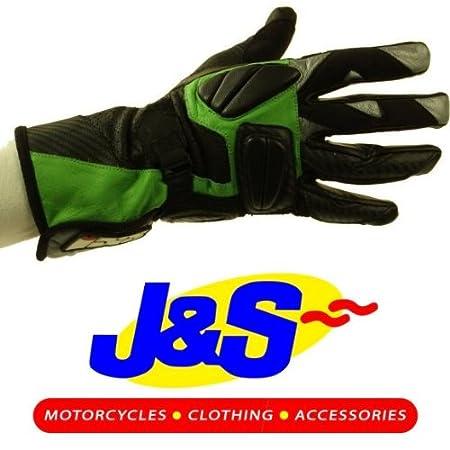 IXS Banzai Gants de moto en cuir vert Gant de moto Racing J & S