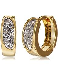 SIA Art Jewellery Clip-On Earrings For Women (Gold) (AZ3306)