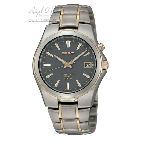 Seiko Mens Full Titanium Kinetic Watch