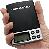 PARTYSAVING High-tech Digital Weigh Scale 1000g x 0.1g Jewelry Personal Nutrition Scale Pocket Mini Size APL1242, Black