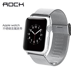 Rock Metal Wrist Watch Band For Apple Watch 42mm